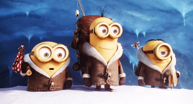 MINIONS, from left: Bob, Stuart, Kevin, 2015./©Universal Pictures