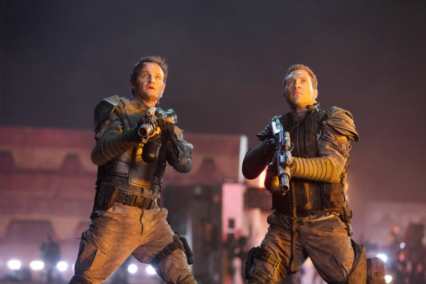 TERMINATOR GENISYS, from left: Jason Clarke, Jai Courtney, 2015. ph: Melinda Sue Gordon/©Paramount Pictures